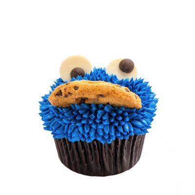 Cupcake Le Cookie Monster de Coquelikot