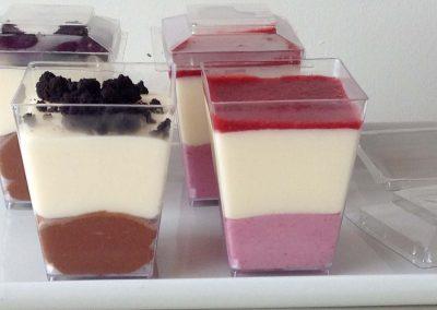 Verrines dessert de Cupcakes de coquelikot