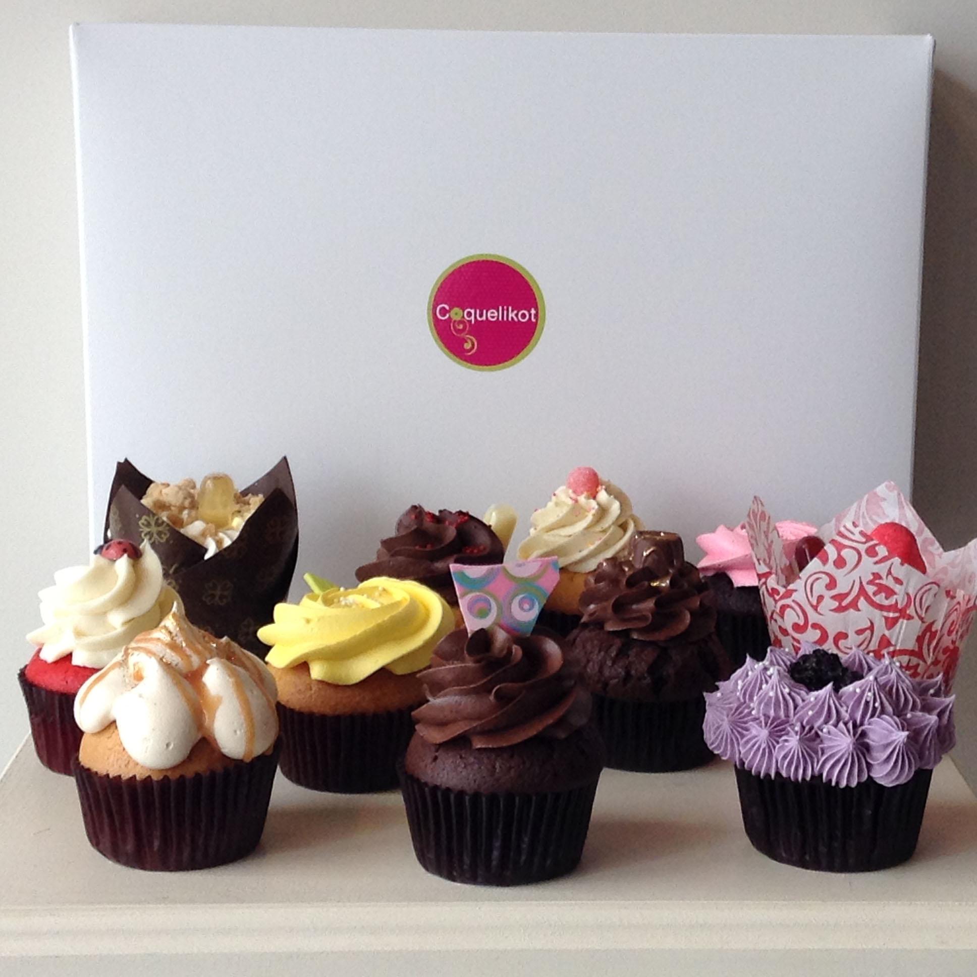 Boîte de 12 cupcakes