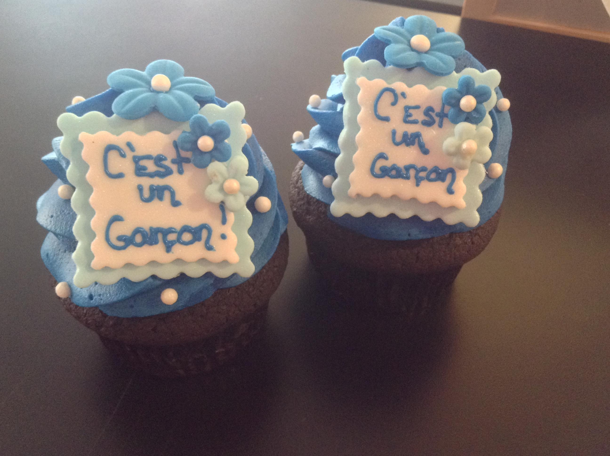 Cupcake annonce du sexe du bébé