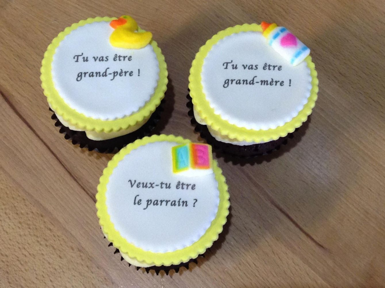 Cupcake annonce naissance