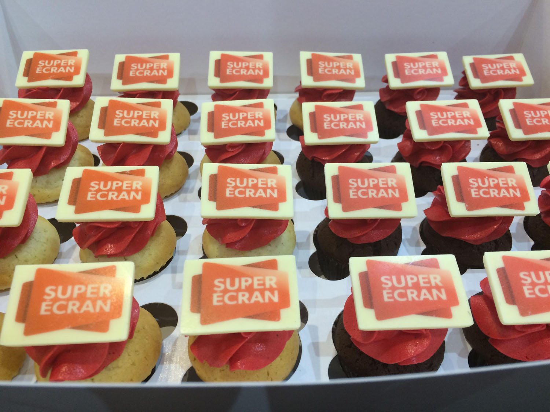 Impression de logo sur cupcake