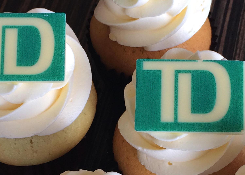 Impression de logo sur cupcakes